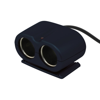 Priza auto dubla Carpoint 12V 5A cu cablu de 30cm pentru dispozitive electronice