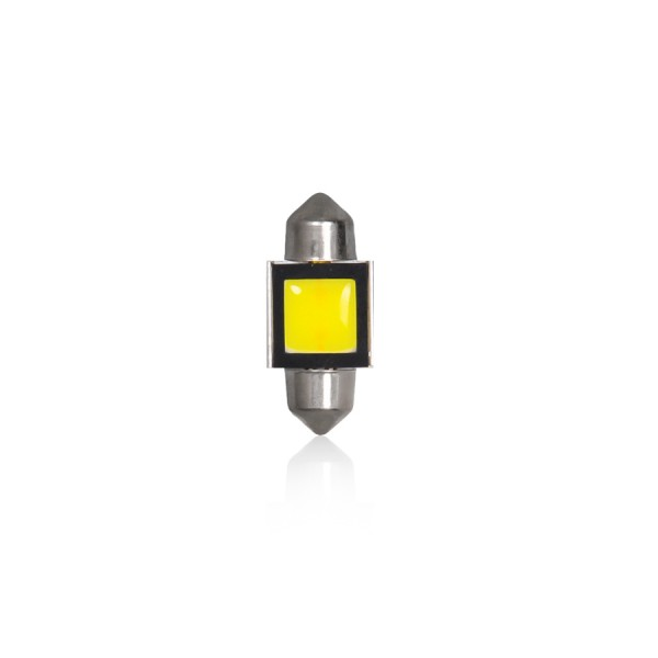 Set 2 becuri auto Vecta LED COB-2W 12V T11/31mm P29T alb sofit Festoon