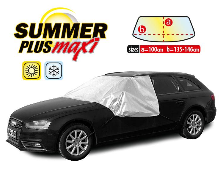Husa parbriz Summer Plus Maxi, protectie impotriva razelor UV si inghetului, h= 100cm, l=135-146cm