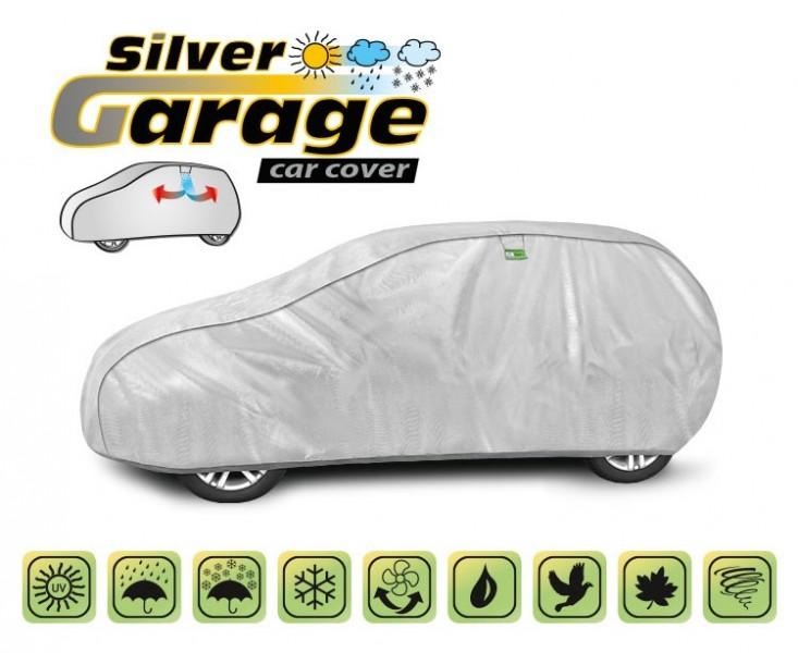 Prelata auto, husa exterioara Silver Garage L1 hatchback/combi , lungime 405-430 cm