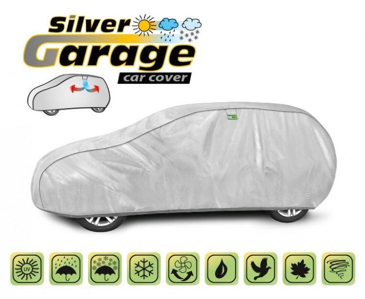 Prelata auto, husa exterioara Silver Garage L2 Hatchback/Combi, lungime 430-455 cm