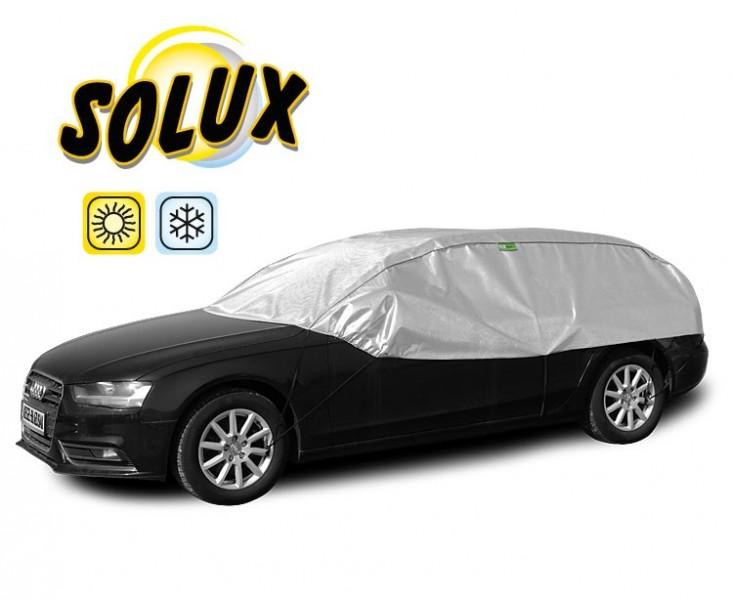 Semi prelata auto Solux L-XL Hatchback Combi pentru protectie soare si inghet, l=295-320cm, h=75cm