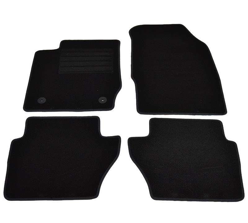 Covorase mocheta Ford Fiesta 03/2011- 3/5 usi, Negru , set de 4 bucati