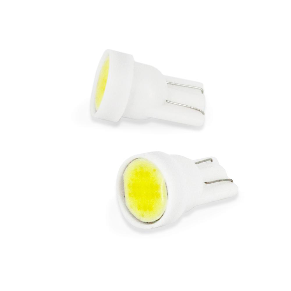 Bec de pozitie tip LED T10 W2.1x9.5 12V 1W , cu Led COB , set 2 buc
