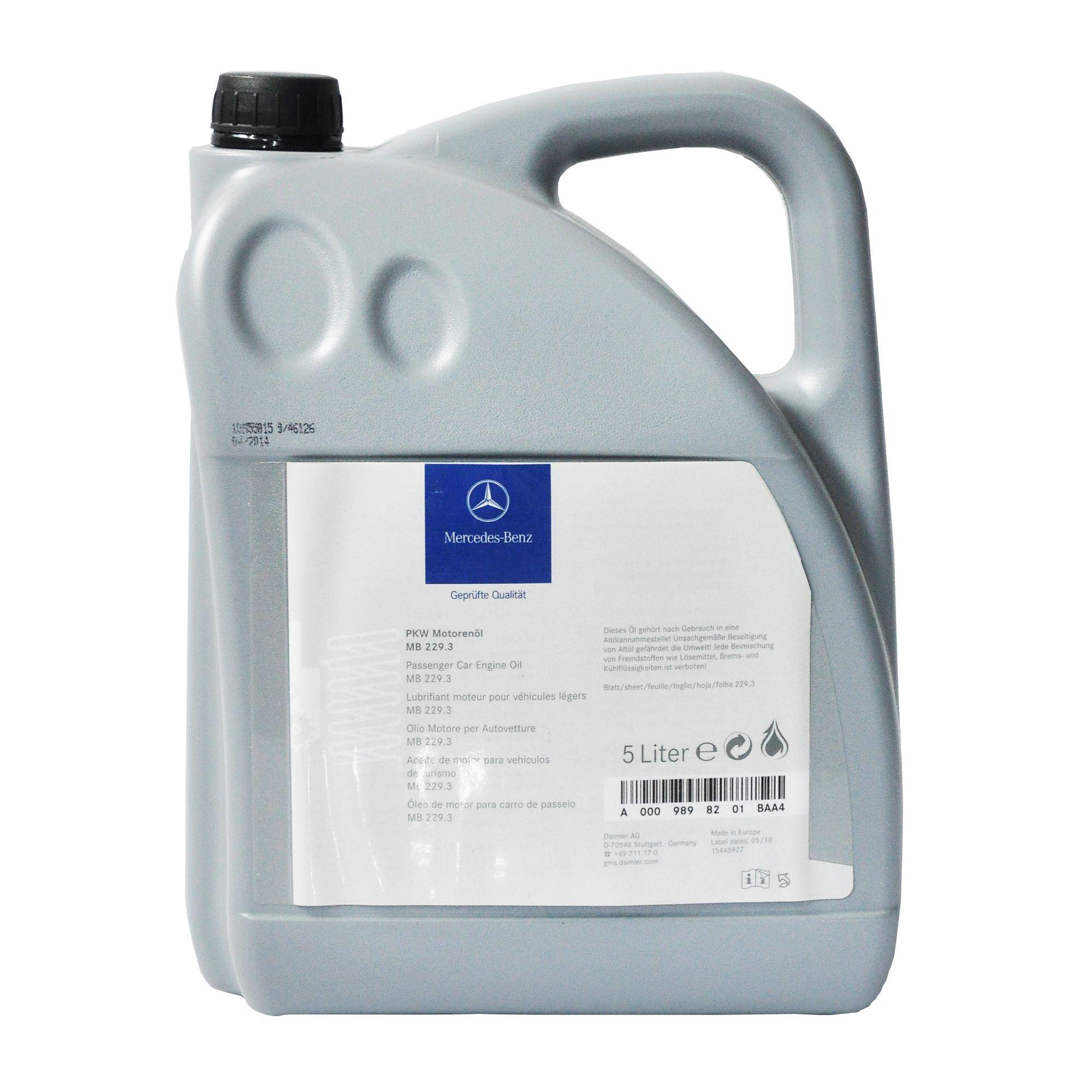 Ulei motor Mercedes 5W40 229.3 5Litri , cod OE A0009898201 BAA4 pentru auto fara filtru particule