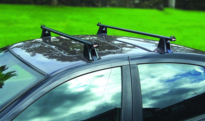 Set 2 bare transversale portbagaj Streetwize 120 cm din otel , cu fixare direct pe caroserie