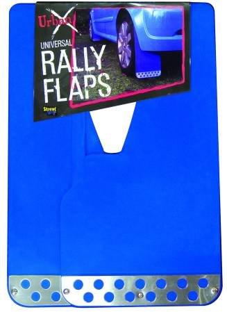 Set aparatori noroi Streetwize Rally Look Blue universale, cu element cromat 2 buc.