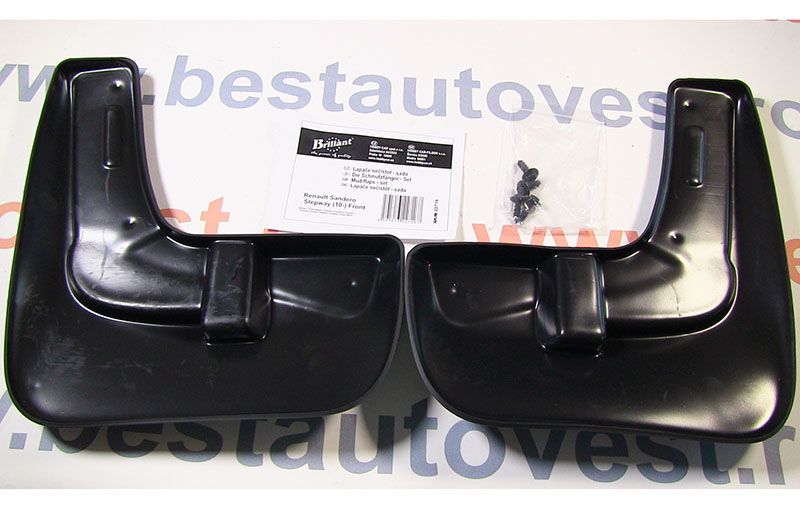 Set aparatori noroi Dacia Sandero Stepway 2010-2013 , parte fata , 2 buc., bavete din cauciuc
