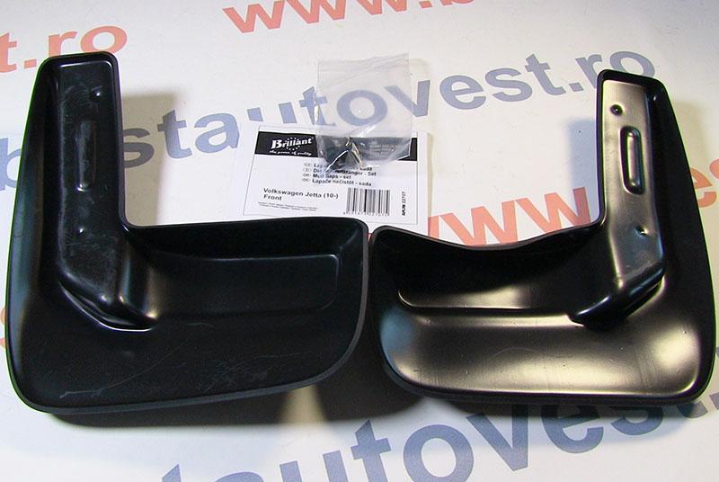 Set aparatori noroi Volkswagen Jetta 2010- , parte fata , 2 buc., bavete din cauciuc