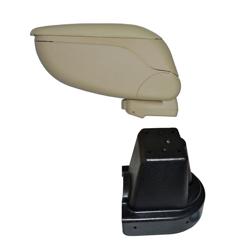 Cotiera pentru Chevrolet Aveo 2 2006-2011, rabatabila cu capac culisabil , Consola CREM si suport Negru