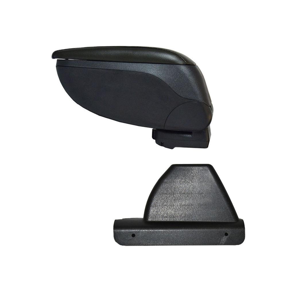Cotiera pentru Ford Focus 1 FaceLift 10.2001-2004 , rabatabila cu capac culisabil imitatie piele de culoare GRI , culoare consola si suport Negru