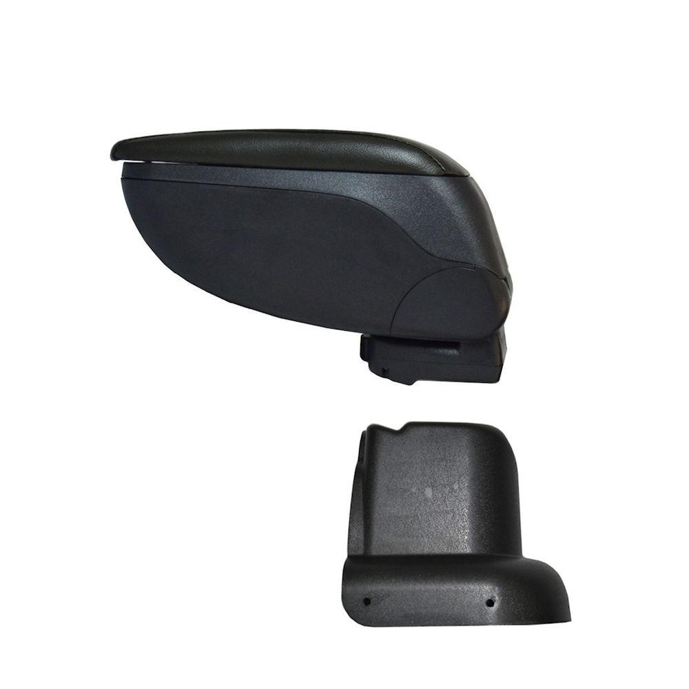 Cotiera pentru Skoda Octavia 1 din 2000-2011 , rabatabila cu capac culisabil imbracat in imitatie piele eco de culoare GRI , culoare consola Negru si suport Negru