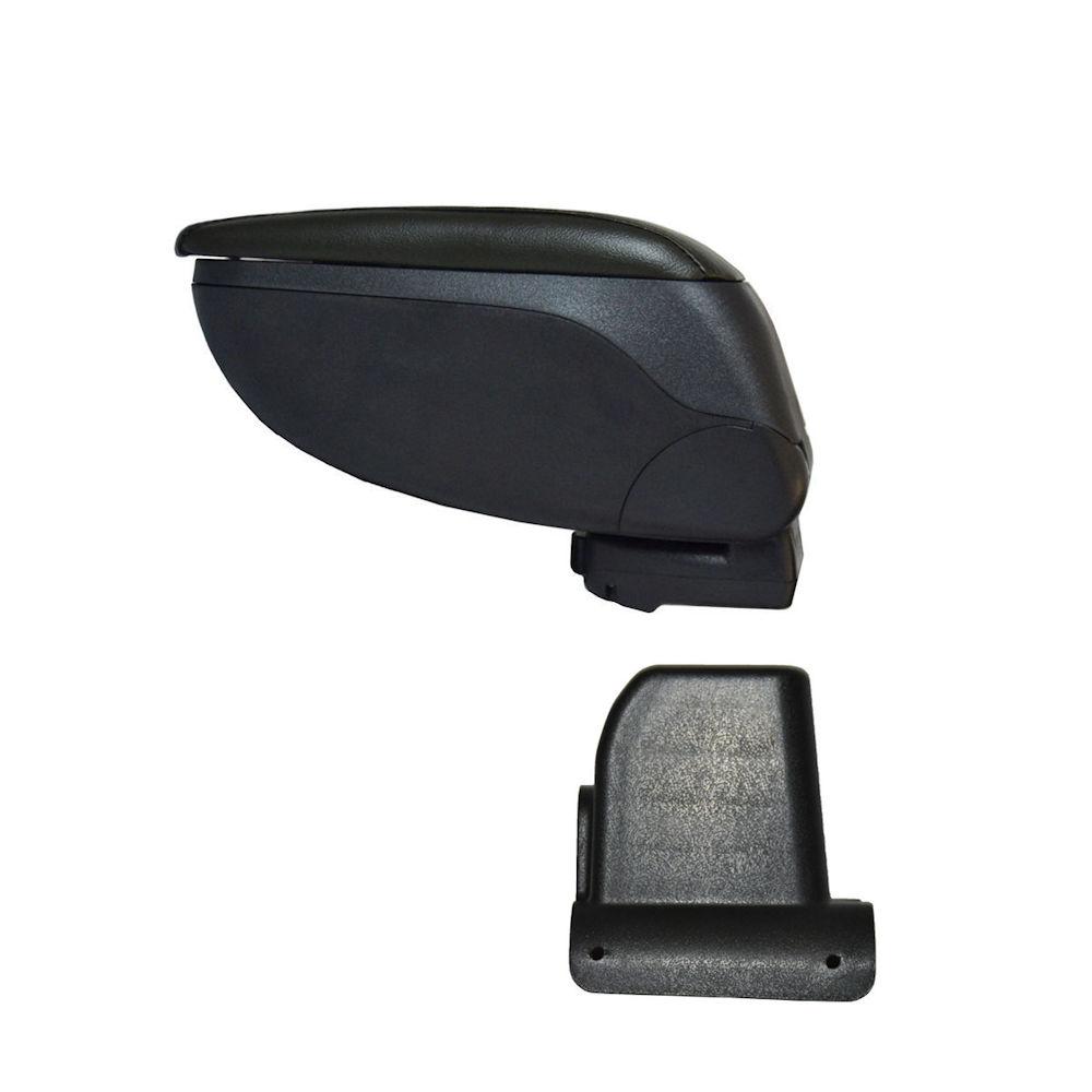 Cotiera pentru Dacia Lodgy 2012- si Dokker , rabatabila cu capac culisabil imbracat in imitatie piele eco culoare GRI , culoare consola si suport Negru