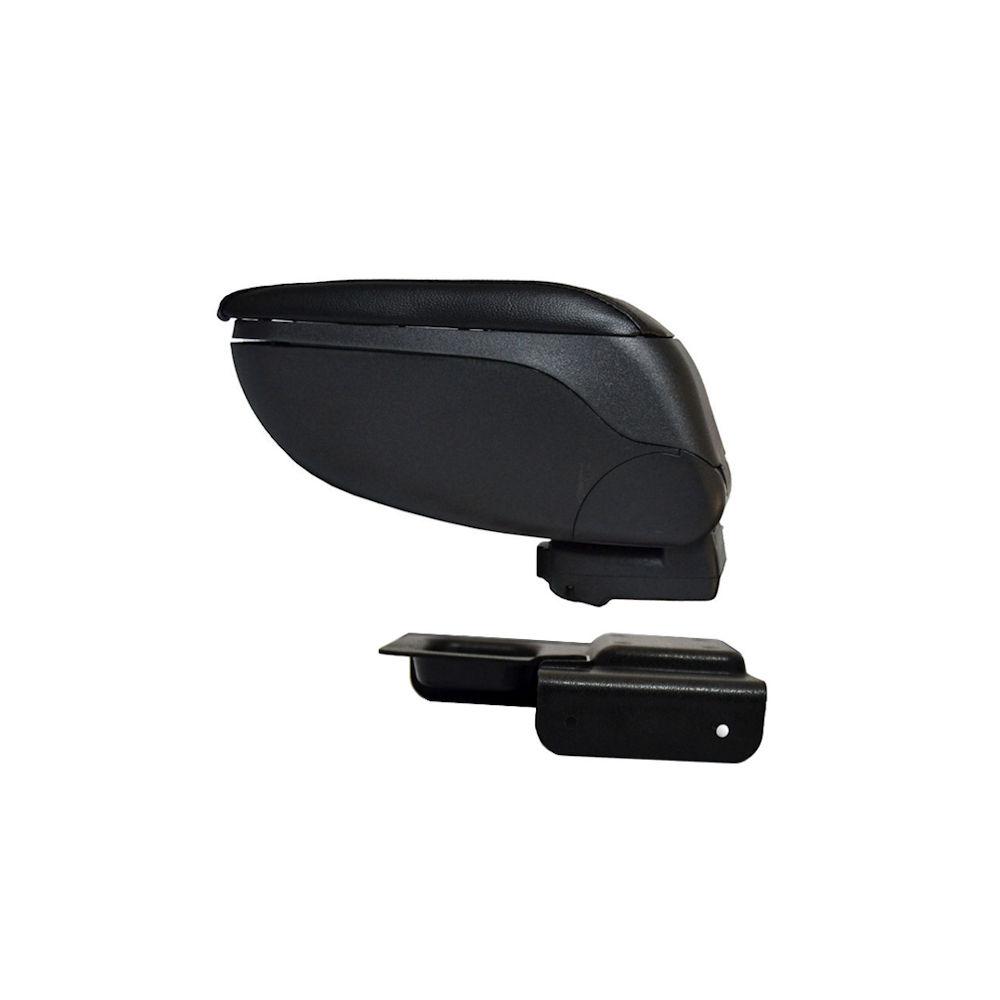 Cotiera pentru Vw Golf 5 2003- , Golf 6 2008- Passat B5 2001-2005, Jetta 2005- , rabatabila cu capac culisabil, imitatie piele , culoare Negru