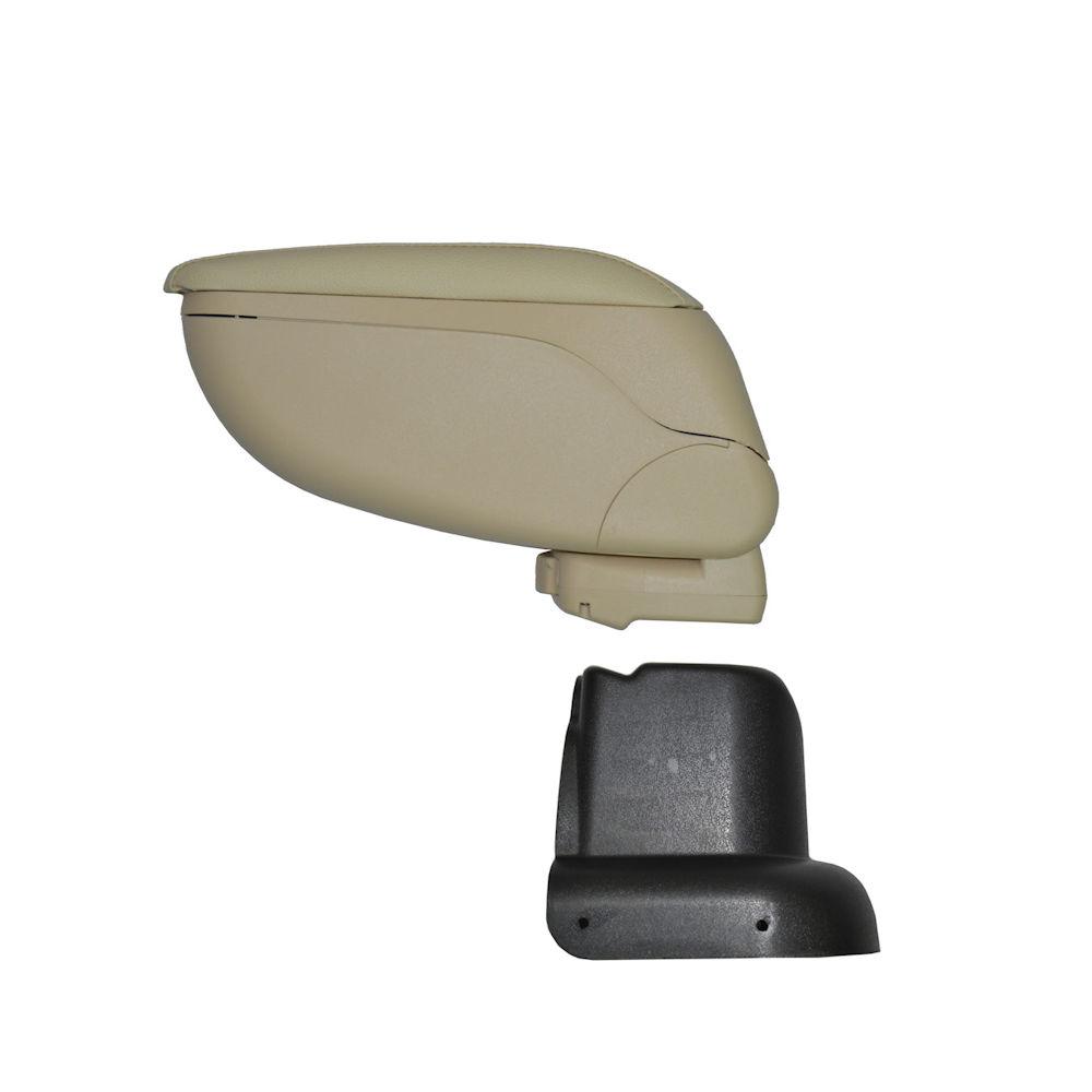 Cotiera pentru Skoda Octavia 1 din 2000-2011 , rabatabila cu capac culisabil imbracat in imitatie piele eco , culoare consola CREM si suport Negru