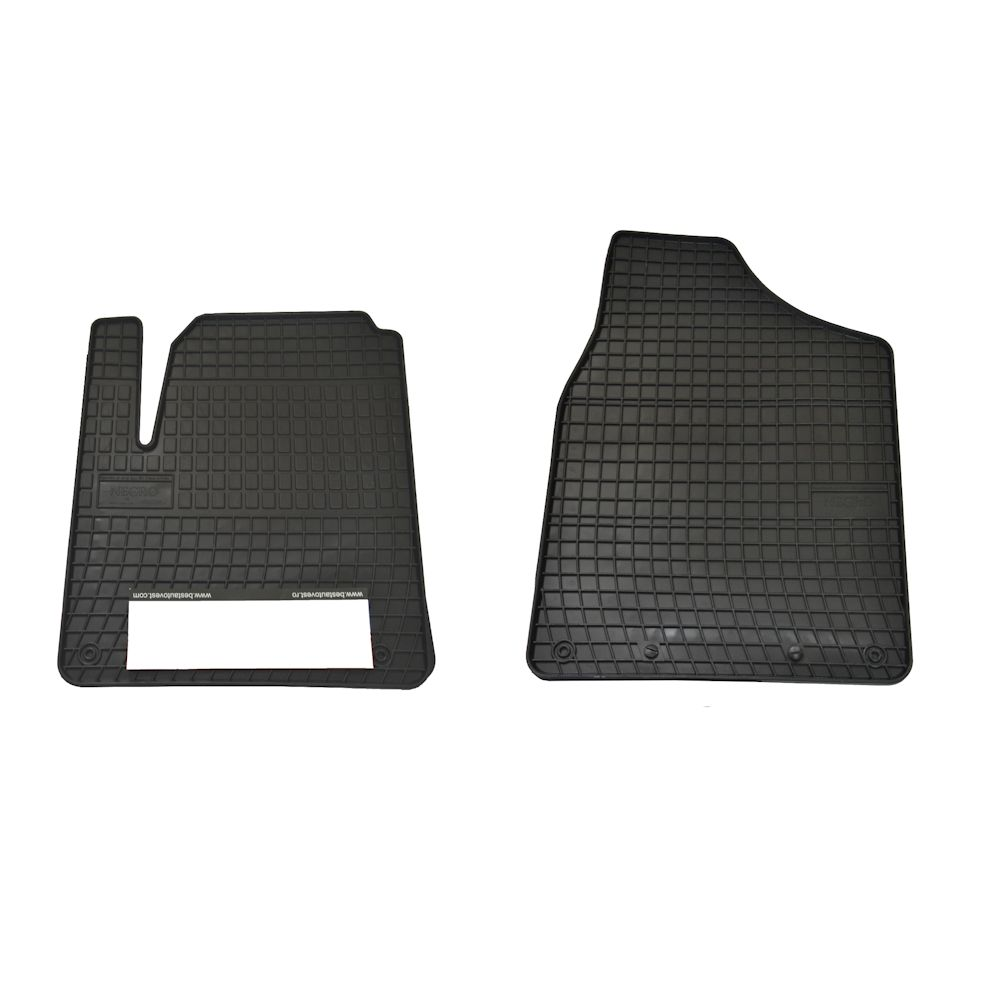 Set covorase auto din cauciuc Ford Galaxy 1995-2006 Seat Alhambra 1995-2010 VW Sharan 1996-2010 pentru fata, presuri negre , 2 buc.