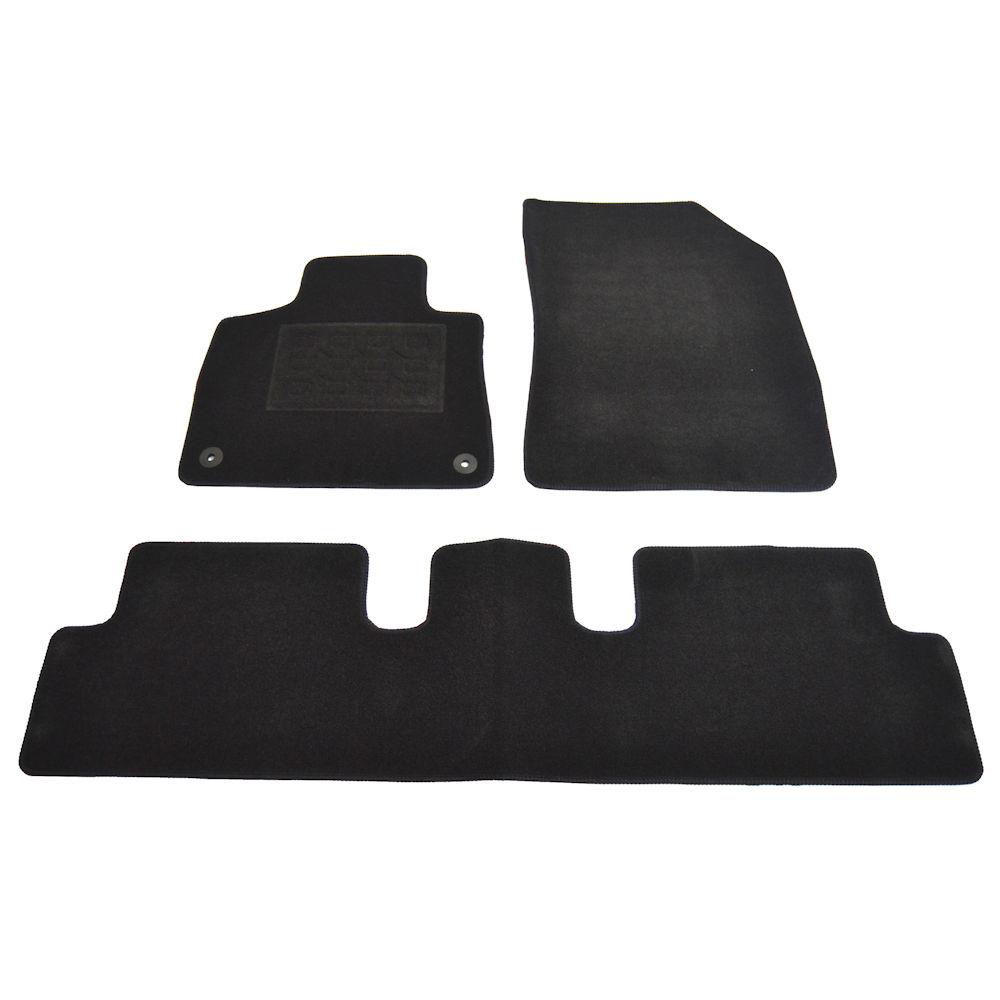 Covorase mocheta Citroen C4 Picasso 2013- , presuri culoare Negru 4 buc.
