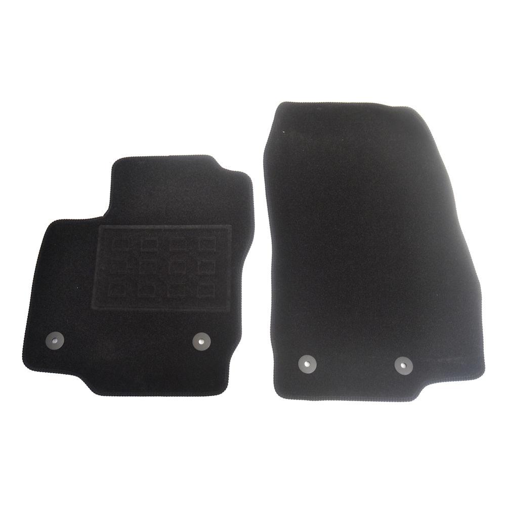 Covorase mocheta Ford Courier Van 2 locuri 2014- , negru, set presuri de 2 bucati