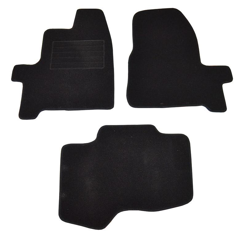 Covorase mocheta Ford Custom 2012- Negre, set de 3 bucati