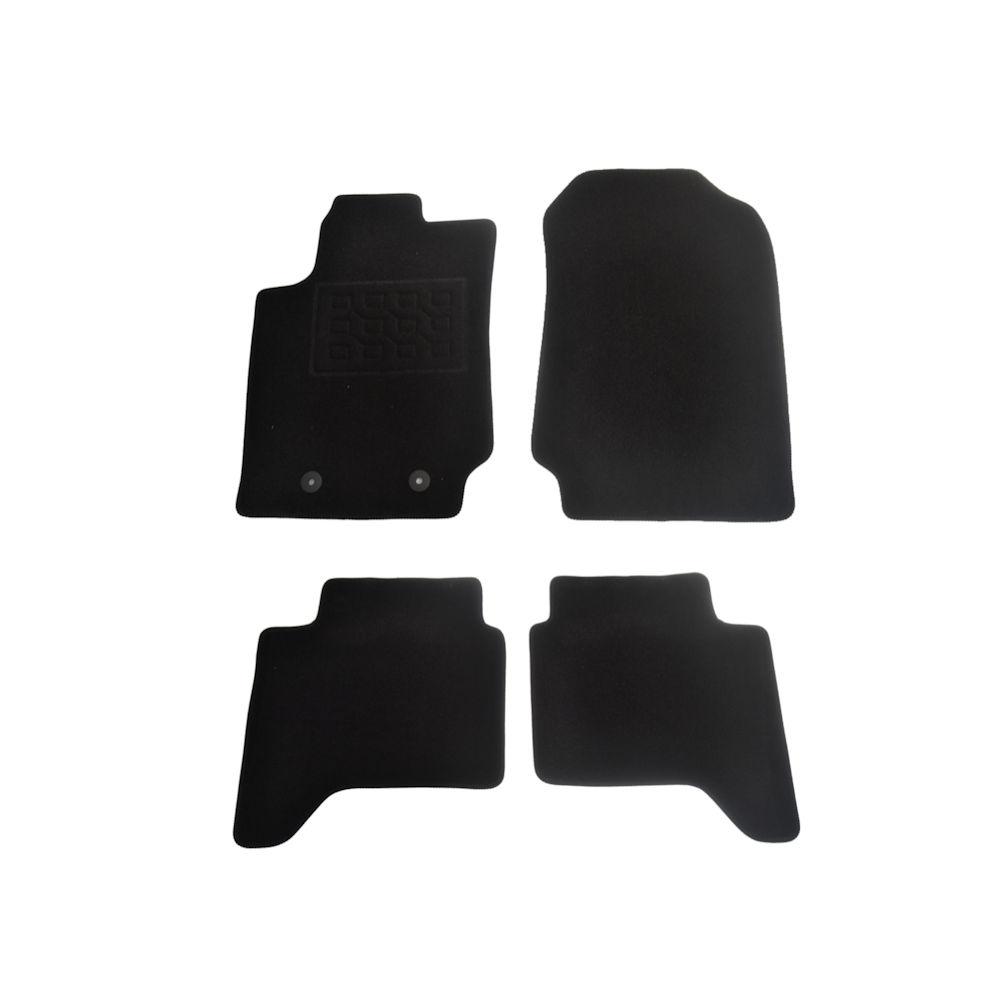 Covorase mocheta Ford Ranger 2012- , negru, set presuri de 4 bucati