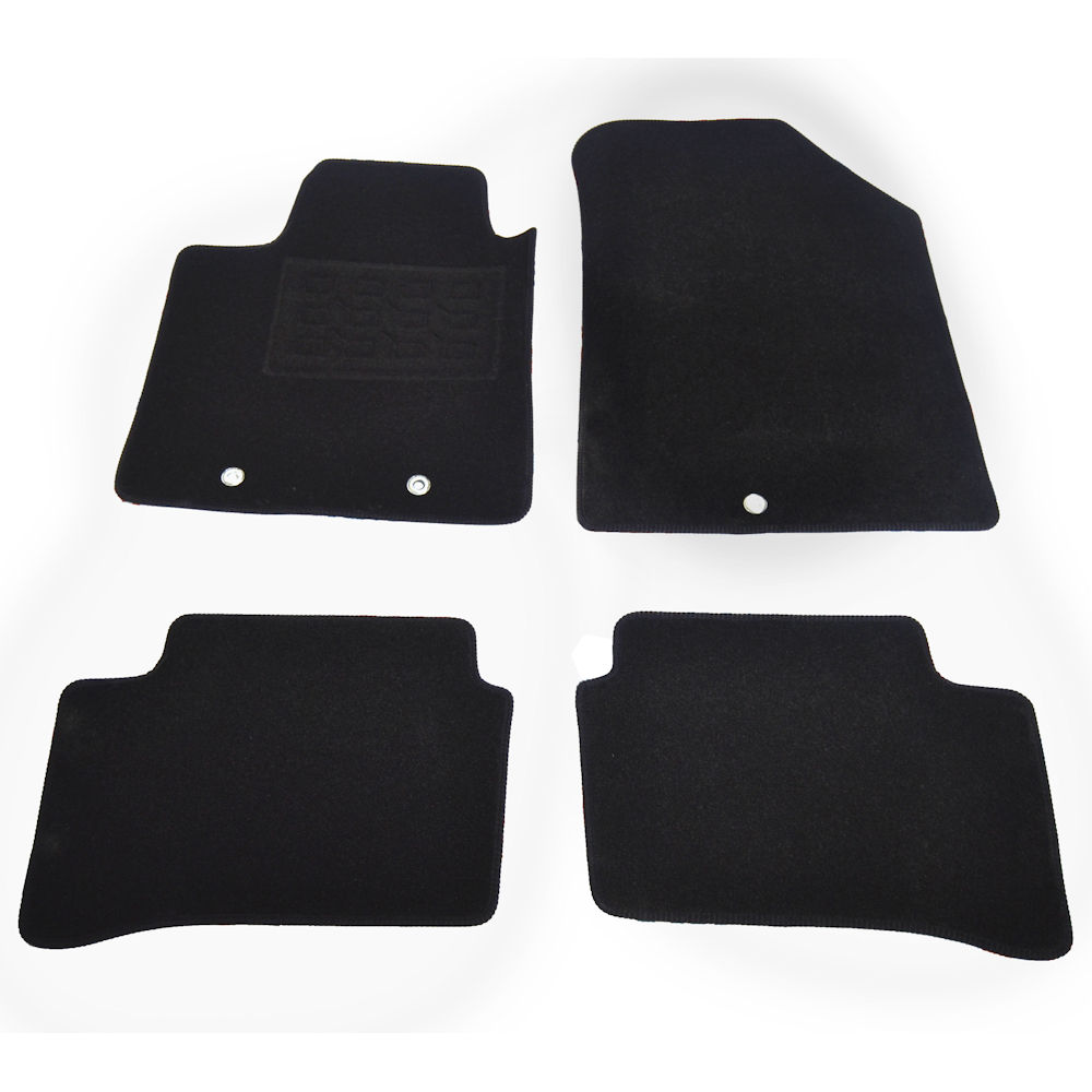 Covorase auto din mocheta Hyundai I10 08/2013- Negru, set de 4 bucati
