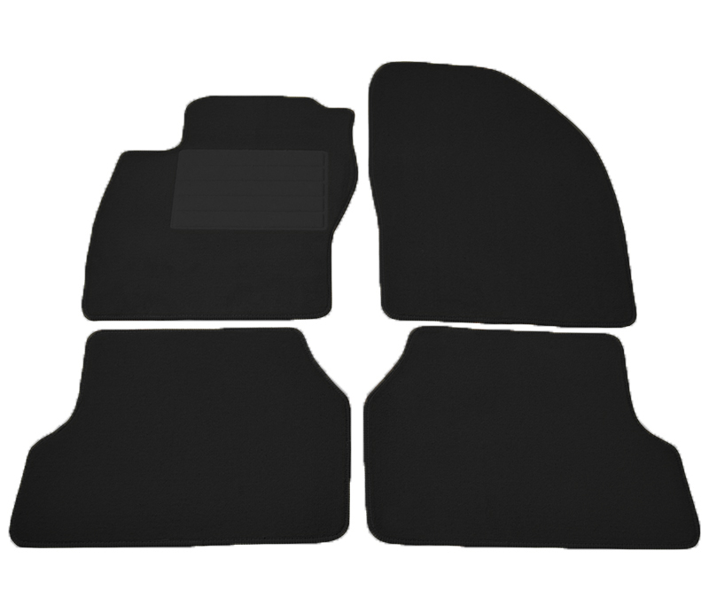 Covorase mocheta Ford Focus 2 pentru 3 5 usi si Combi 2/2005-2/2011 negru , set de 4 bucati
