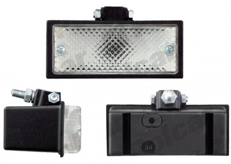 Lampa mers inapoi alba 115x50x68mm cu suport