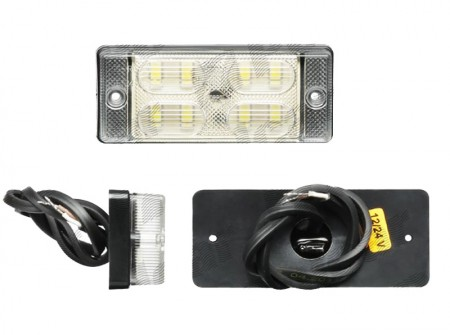 Lampa mers inapoi alba 108x46x25mm LED