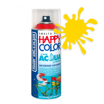 Spray vopsea Galben Ral 1023 HappyColor Acqua pe baza de apa, 400ml