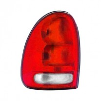Stop spate lampa Chrysler Town Country 1996-1999, Dodge Caravan 1995-2000, Durango 1997-2004, Plymouth Voyager 1995-2000, omologare SAE, spate, fara suport bec, rosu-alb, tip USA, 4576245; 4576245, CH2800125; CH2800125, Stanga