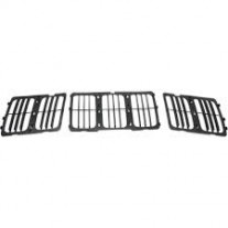 Grila radiator Jeep Grand Cherokee (Wl), 04.2013-, negru, 68143073AC, 34T105 Model LAREDO / LTD