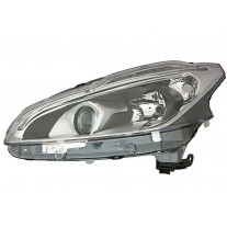 Far Peugeot 208, 06.2015-, fata, Stanga, cu LED daytime running light; H7+H7+LED+PY21W; electric; fara motoras;
