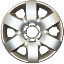 Set capace roti 14 inch tip Renault, culoare Silver 14-215