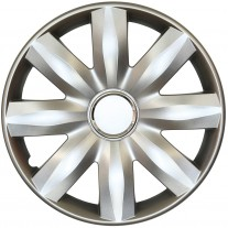 Set capace roti 14 inch tip Renault, culoare Silver 14-221