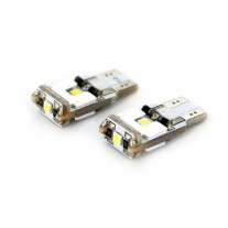Bec auto led 3 SMD Can Bus Cree Chip Carguard 12V T10 W2.1x9.5d 6W , led pozitie 2 buc.