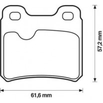 Placute frana spate Opel Astra F Combi (51, 52), 09.1991-01.1998, marca SRLine S70-1221