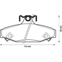 Placute frana spate Ssangyong Musso Sports, 08.2004-, marca SRLine S70-1357