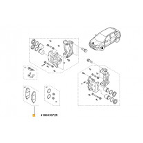 Set Placute Frana Fata Renault 410603072R