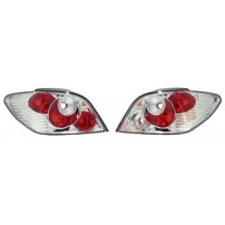 Set stopuri spate tuning lampa Peugeot 307 Hatchback 03.2001-09.2005 BestAutoVest partea Dreapta+Stanga, transparent+silver