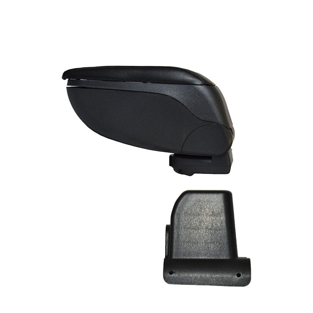 Cotiera pentru Dacia Lodgy 2012- si Dokker , rabatabila cu capac culisabil imbracat in imitatie piele eco , culoare consola si suport Negru