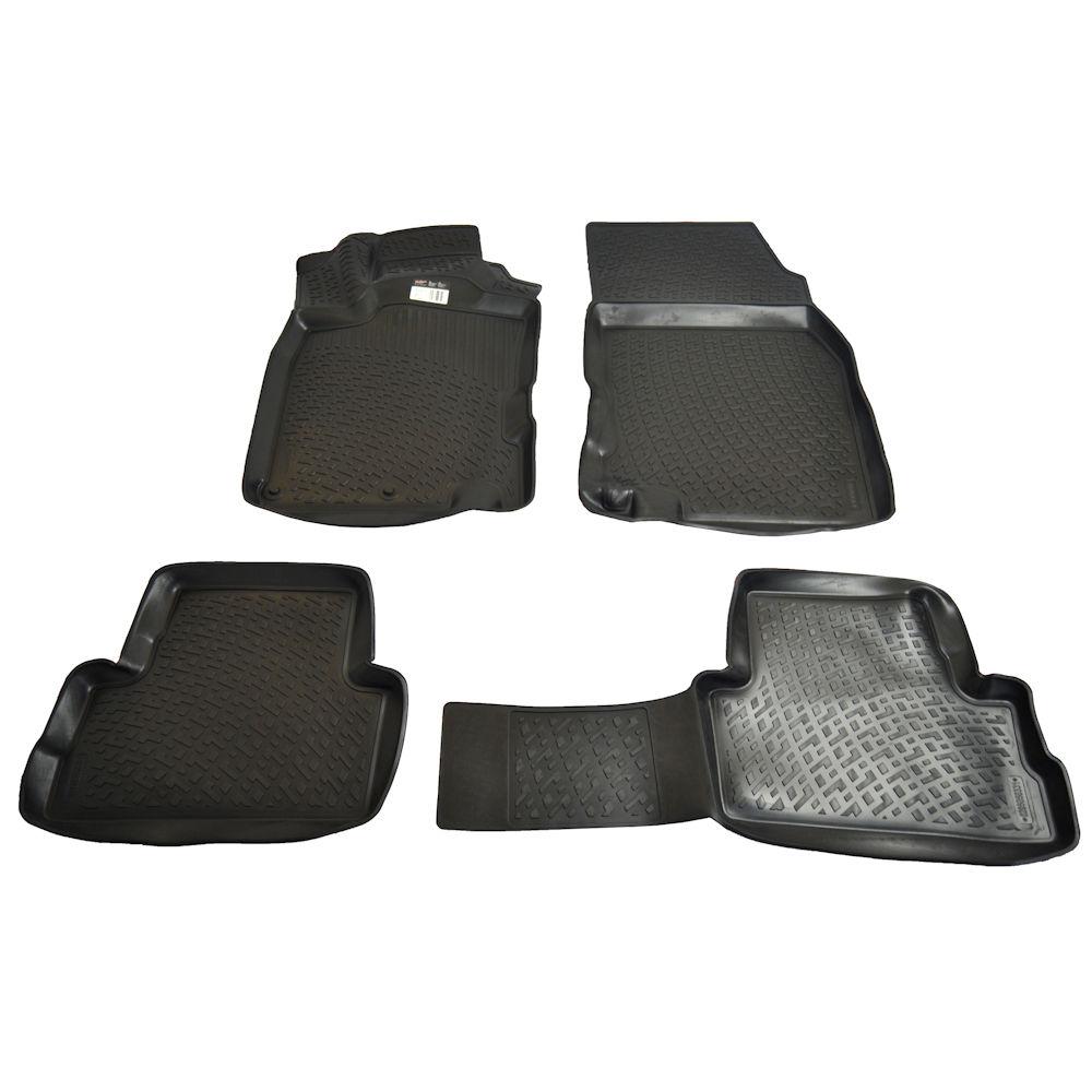 Set covorase auto din cauciuc Nissan Qashqai 2 J11 2013- , presuri tip tavita culoare Negru, 4 buc.
