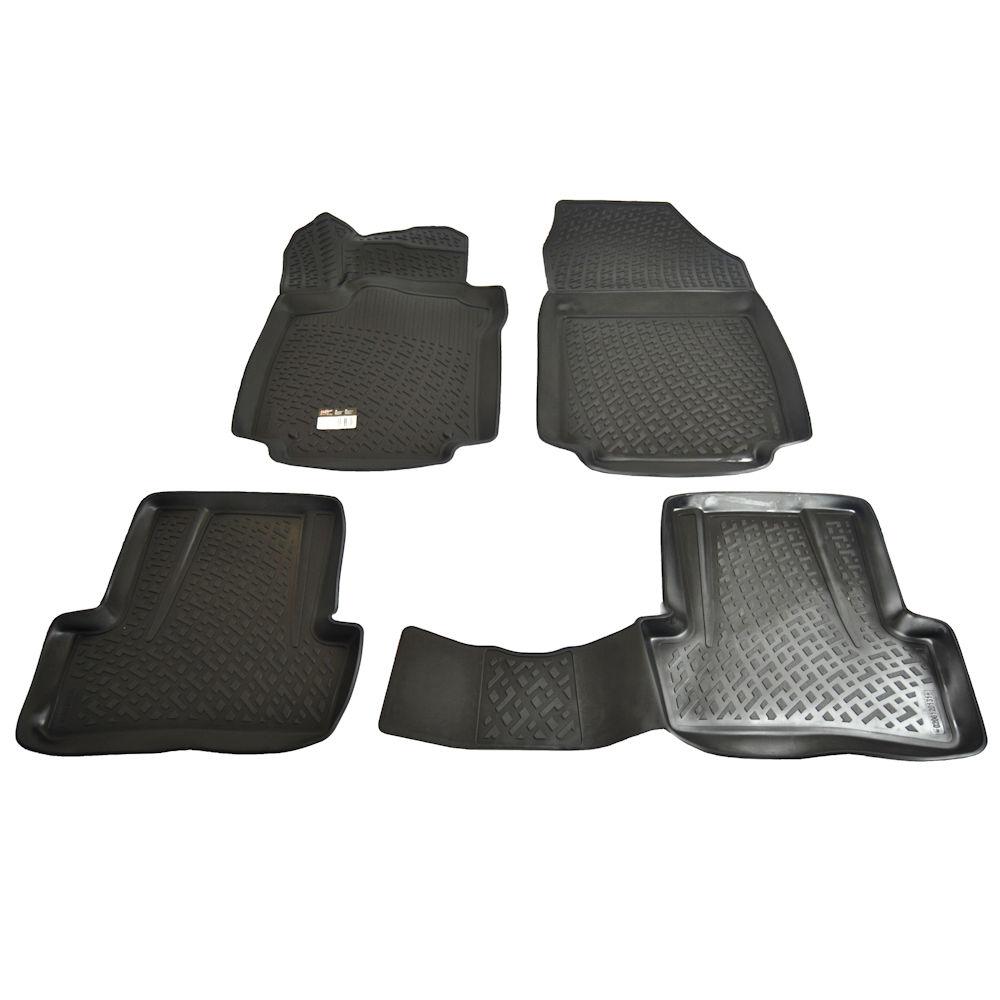 Set covorase auto din cauciuc Renault Clio IV Hatchback X98 2012-, presuri tip tavita culoare Negru, 4 buc.